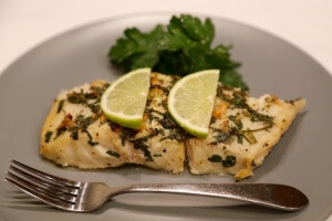 Corvina fish in lime marinade is perfect for weight loss